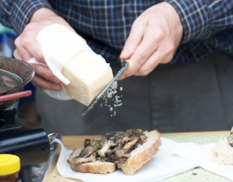 Mushroom Table sells wild and exotic mushrooms and fresh-cooked sandwiches