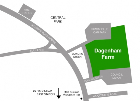 dagenham farm map
