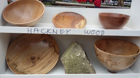 handmade wood bowls made from fallen Hackney trees by Tim Cowen