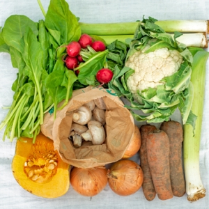 contents of a typical veg box