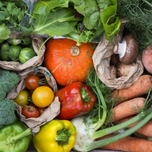 colourful organic vegetables