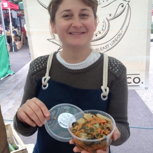 organic kimchi from PaMa at Growing Communities farmers' market