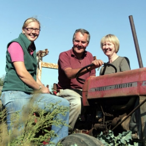 Sarah Green and her parents, Steven and Sally, small-scale organic family farmers