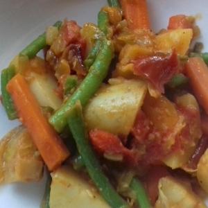 Yataklete kilkil spicy Ethiopian green bean stew