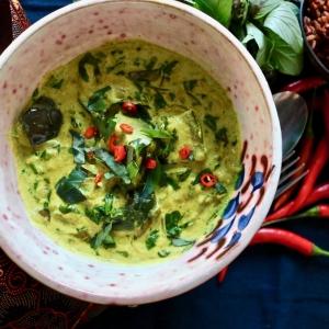 aubergine amok Cambodian curry