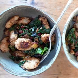smokey beans and greens recipe