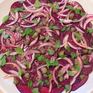 beetroot carpacchio