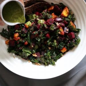 beet kale squash salad