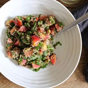 beet quinoa nectarine salad