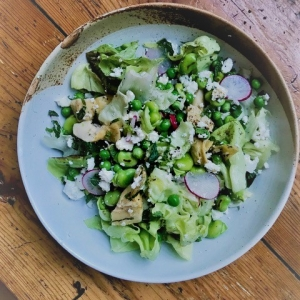 broad bean pea and mint salad