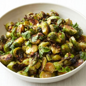 Brussels sprouts with garlic and teriyaki
