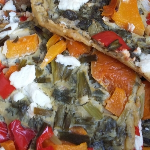 seasonal veg pizza