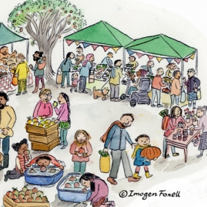 farmers market illustration