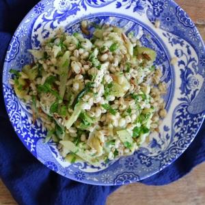 lemon leek barley salad kali hamm