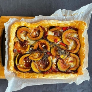 Squash tart by Lockdown Lunchclub