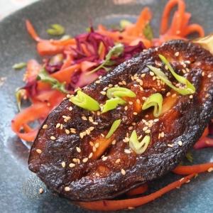 miso glazed aubergine recipe