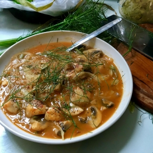 sauerkraut mushroom soup seasonal recipe