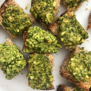 olive parsley almond dip
