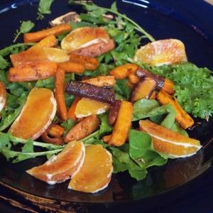 Moroccan spiced blood orange & carrot salad