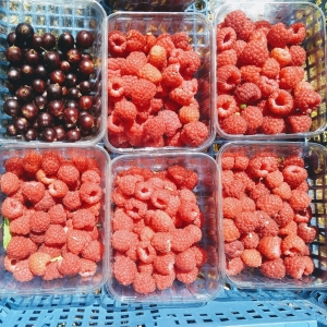 raspberries from peach & pippin