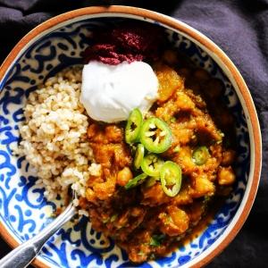 squash chickpea curry