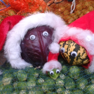 Christmas vegetable nativity scene